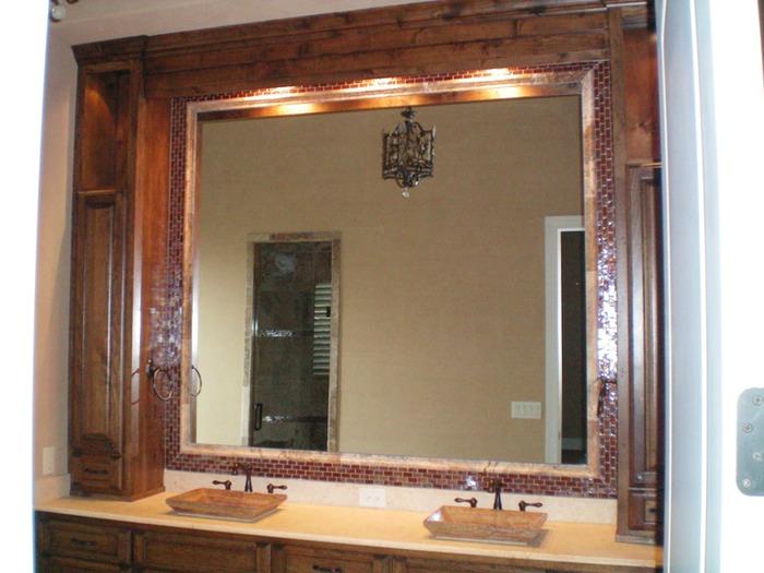 Bathroom Mirror Borders bathroom - mirror border | shelton tile